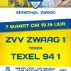 Aankondiging Zwaag - Texel