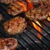 hamburgers on barbeque